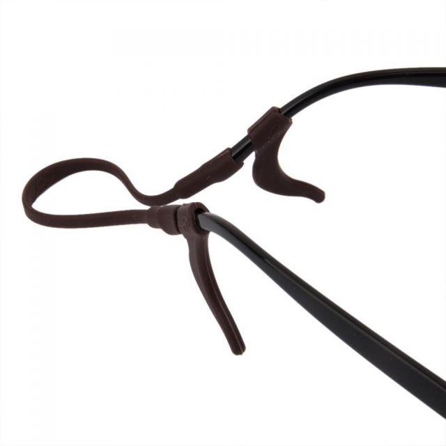 Kids Silicone Ear Hooks Head Band Strap Anti-Slip Grip Brown
