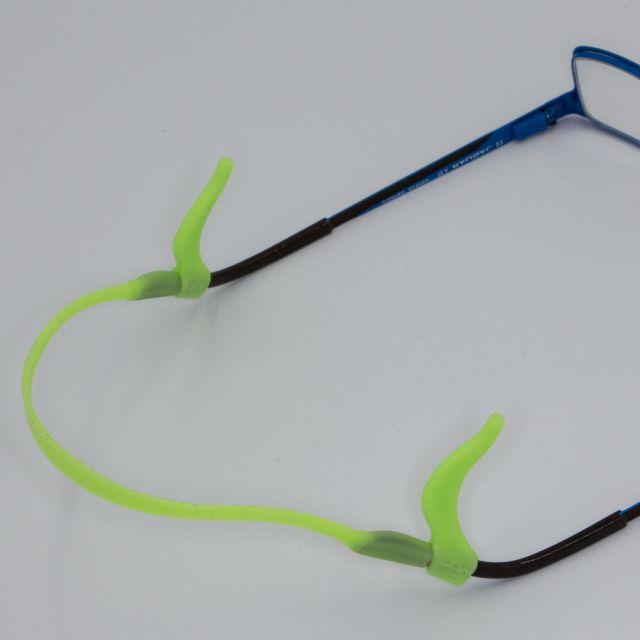 Kids Silicone Ear Hooks Head Band Strap Anti-Slip Grip Light Green