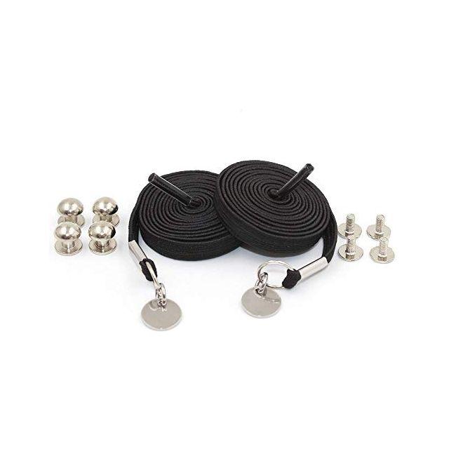 Black Loop Flat Elastic No Tie Shoelaces