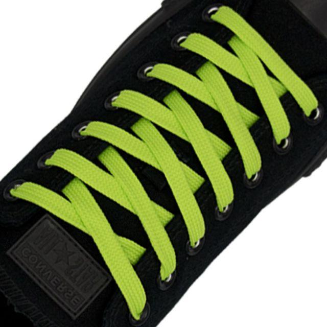 Polyester Shoelace Flat - Fluro Green Length 80cm Width 1cm