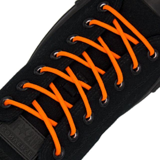 Polyester Shoelace Round - Fluro Orange Length 120cm Diameter Ø4mm