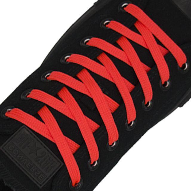 Polyester Shoelace Flat - Fluro Pink Length 80cm Width 1cm