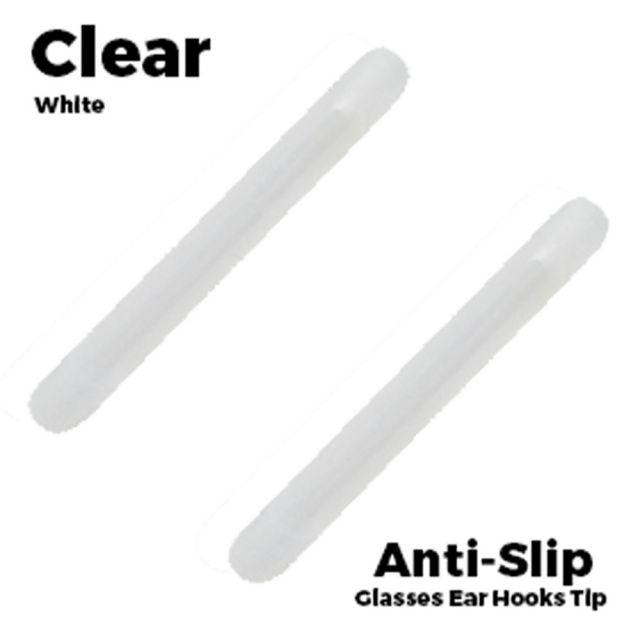 Glasses Ear Silicone Tubes Anti-Slip Grip Clear White
