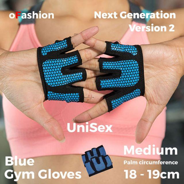 Gym Glove Unisex Medium Blue