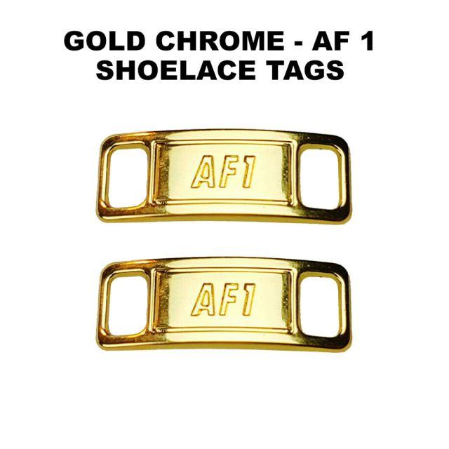 AF 1 Chrome Gold Shoelace Charm Buckle