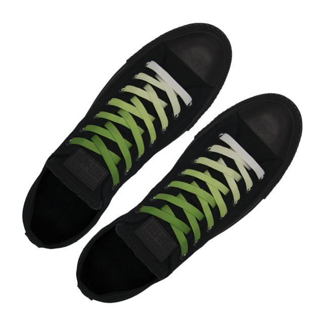 Length: 110cm | Width: 10mm | Green Faded Shoelace Flat