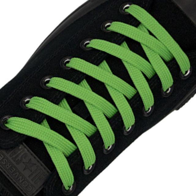 Polyester Shoelace Flat - Green Length 120cm Width 1cm