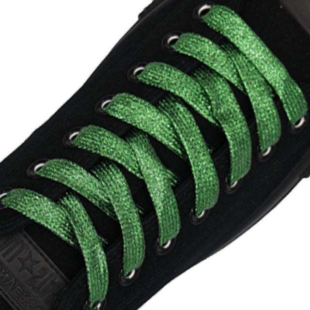 Glitter Shoelace - Green 50cm Length 10mm Width