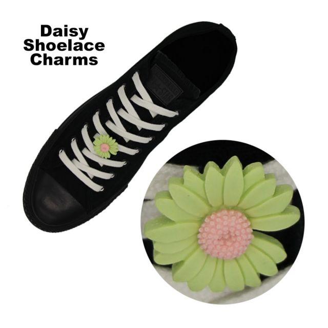 Green Daisy Shoelace Charm