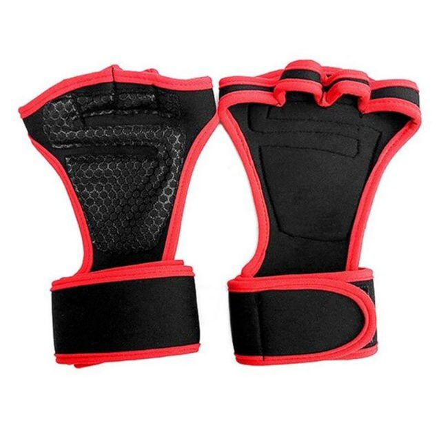 Red Weight Lifting Gym Gloves