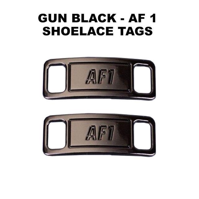 AF 1 Gun Black Shoelace Charm Buckle