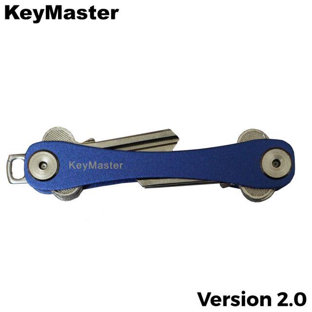 KeyMaster - Blue Long Smart Key Organiser Front