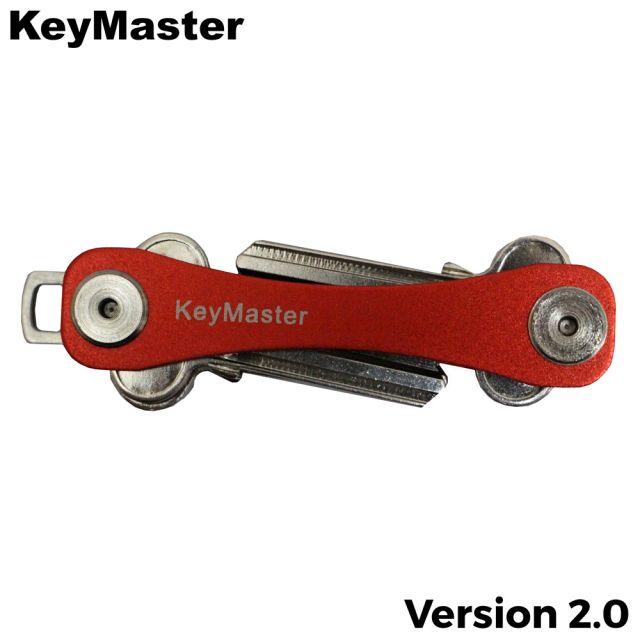 KeyMaster - Red Short Smart Key Organiser Front