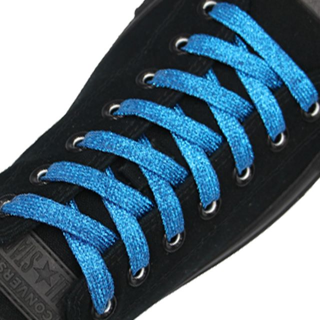 Glitter Shoelace - Light Blue 50cm Length 10mm Width
