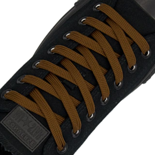 Polyester Shoelace Flat - Light Brown Length 120cm Width 1cm