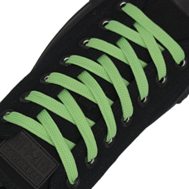 Polyester Shoelace Flat - Light Green Length 80cm Width 1cm
