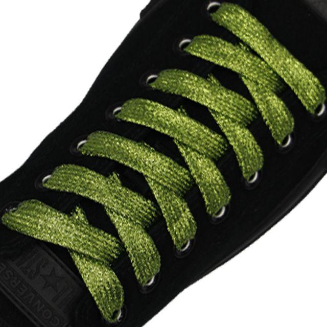 Glitter Shoelace - Light Green 50cm Length 10mm Width