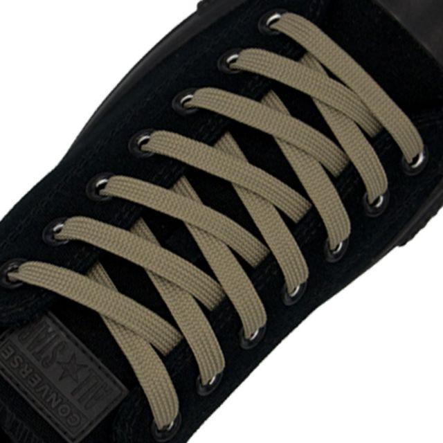 Polyester Shoelace Flat - Light Khaki Length 80cm Width 1cm