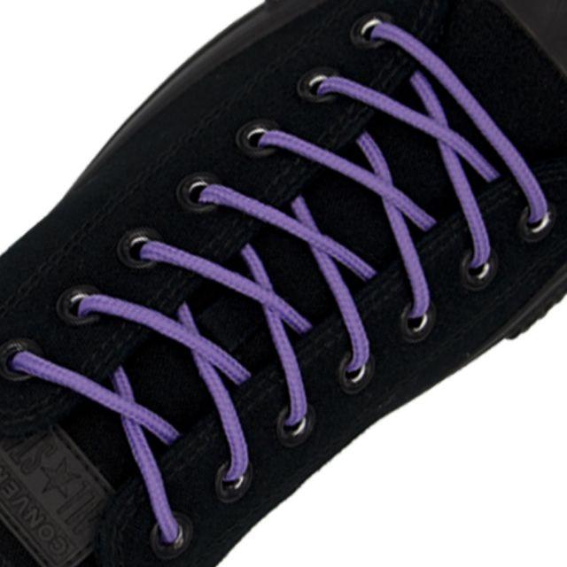 Polyester Shoelace Round - Light Purple Length 120cm Diameter Ø4mm