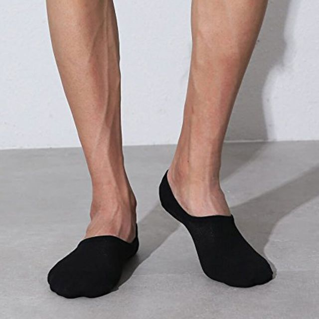 Low Cut Invisible Ankle Socks Black