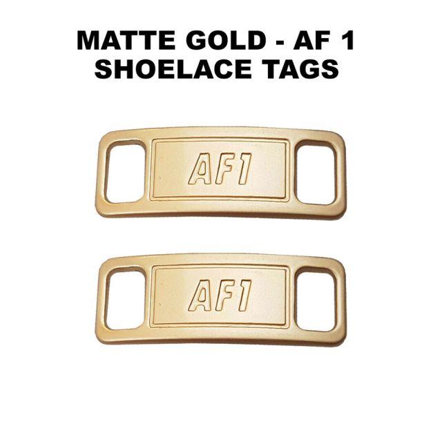 AF 1 Matte Gold Shoelace Charm Buckle