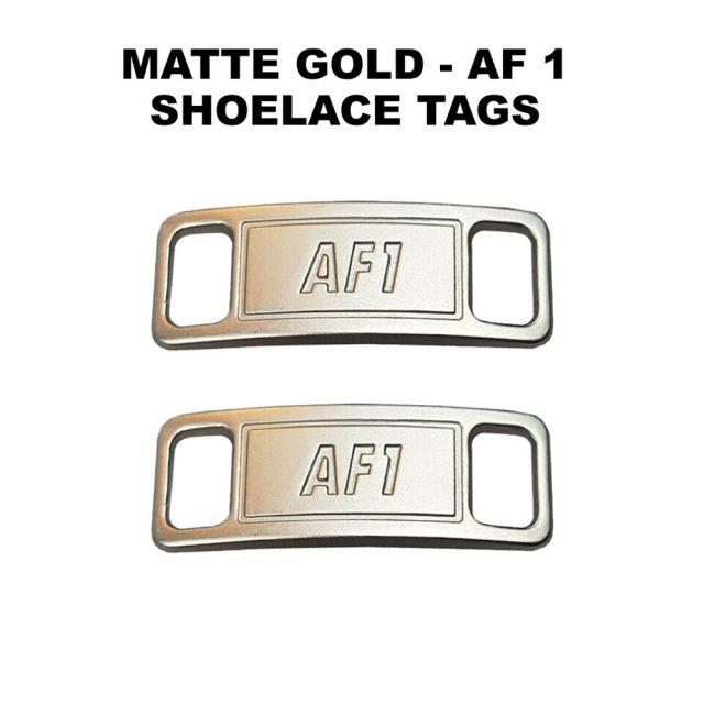 AF 1 Matte Silver Shoelace Charm Buckle