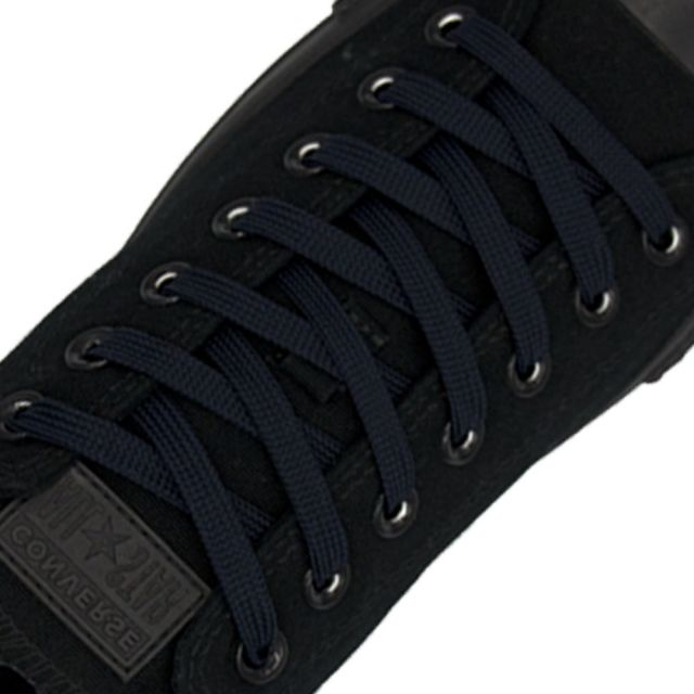 Polyester Shoelace Flat - Navy Blue Length 120cm Width 1cm