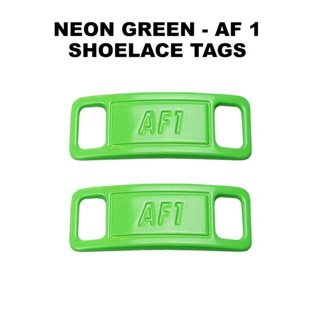 AF 1 Neon Green Shoelace Charm Buckle