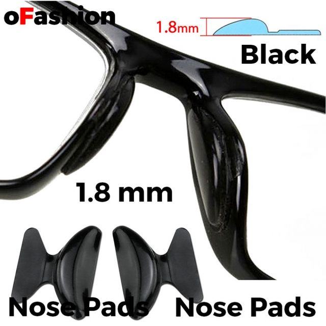 Nose Pads For Spectacle - Black 1.8mm