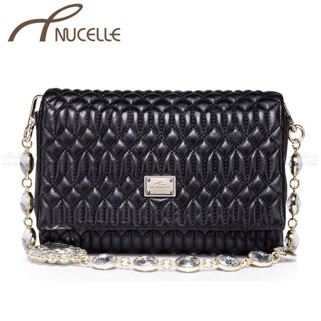 Sheep Black Messenger Bag - Nucelle Handbags - Front