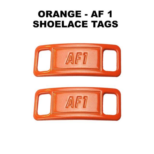 AF 1 Orange Shoelace Charm Buckle