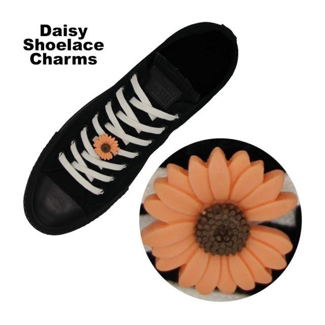 Orange Daisy Shoelace Charm