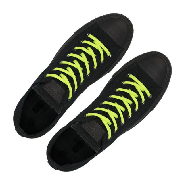 Oval Diameter Ø4mm | Neon Green | Length 100cm | Sports Shoelace
