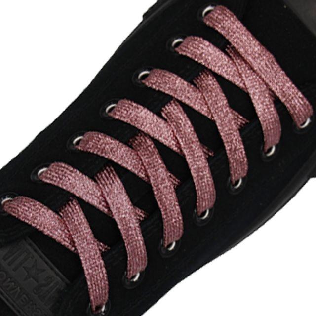 Glitter Shoelace - Pink 50cm Length 10mm Width