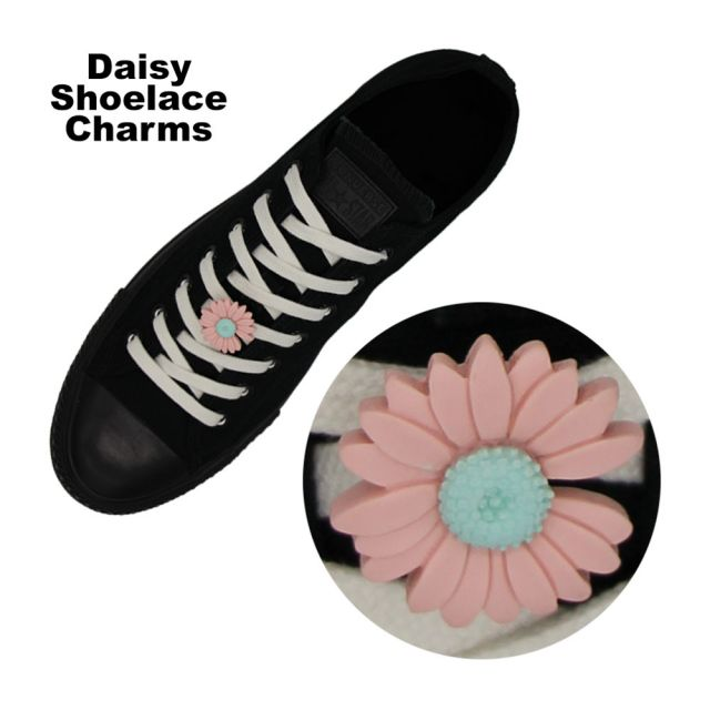 Pink Daisy Shoelace Charm