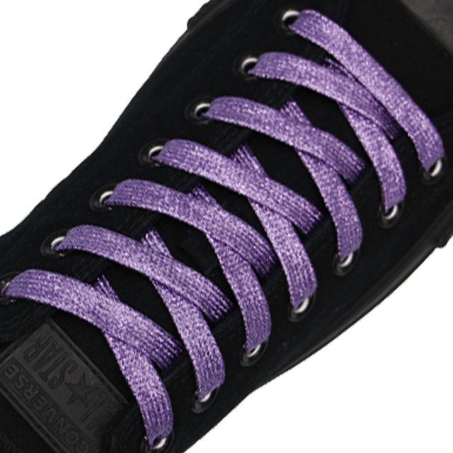 Glitter Shoelace - Purple 50cm Length 10mm Width