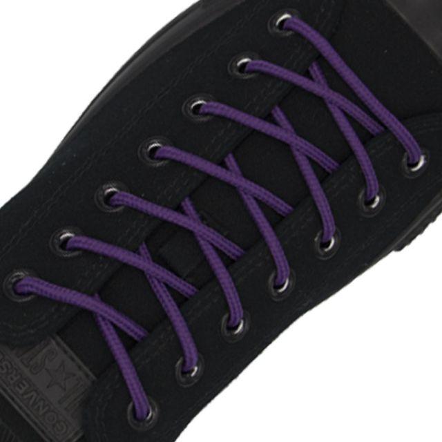 Polyester Shoelace Round - Purple Length 120cm Diameter Ø4mm