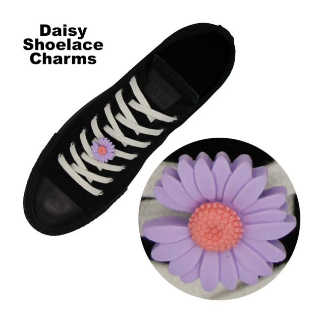 Purple Daisy Shoelace Charm