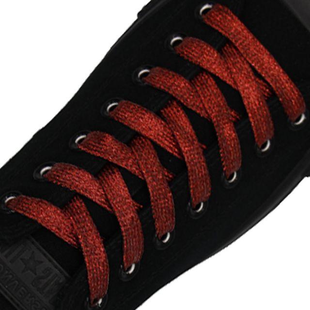 Glitter Shoelace - Red 50cm Length 10mm Width