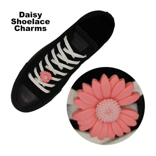 Red Daisy Shoelace Charm