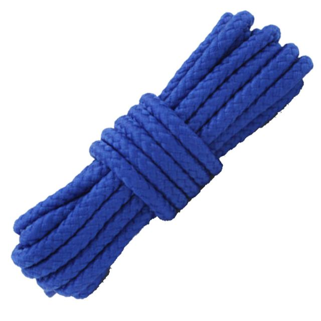 Length: 80cm   Diameter: 5mm   Royal Blue Solid Shoelace / Bootlace Round