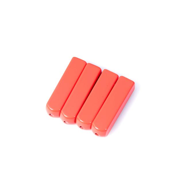 Red Metal Aglets Tips (4 Pcs)