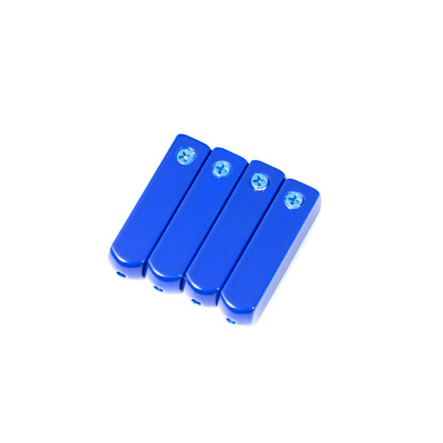 Blue Metal Aglets Tips (4 Pcs)
