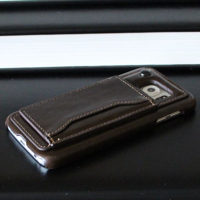 Samsung Galaxy S6 - Badboy Brown Leather Cover Case Back Phone