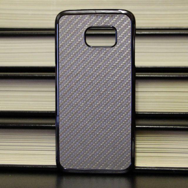 Samsung Galaxy Edge S7 - Tough Carbon Fiber Silver Case Back