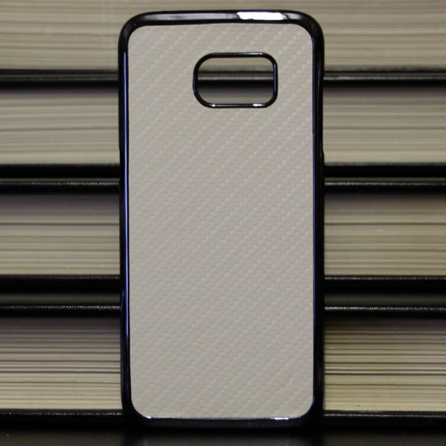 Samsung Galaxy Edge S7 - Tough Carbon Fiber White Case Back