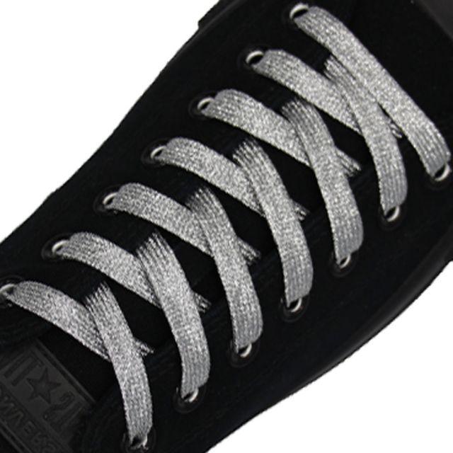 Glitter Shoelace - Silver 50cm Length 10mm Width
