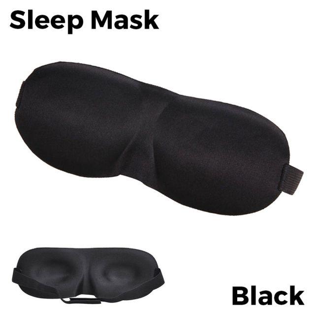 Sleeping Eye Mask 3D - Black Unisex