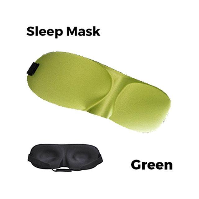 Sleeping Eye Mask 3D - Green Unisex
