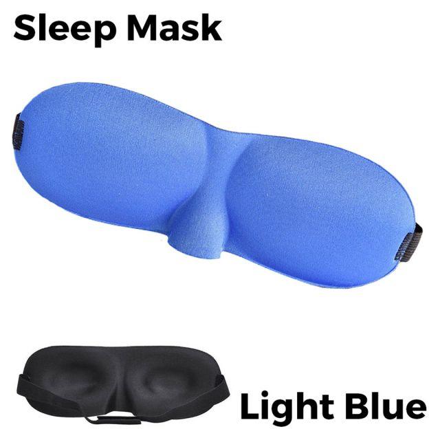 Sleeping Eye Mask 3D - Light Blue Unisex